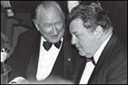 Luggi Waldleitner mit  seinem Freund Franz Josef Strauß